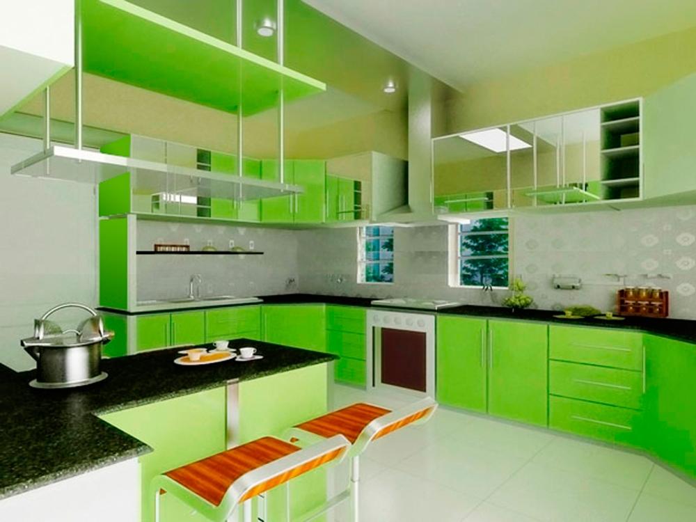 Kết quả hình ảnh cho màu sác nhà bếp hiện đại